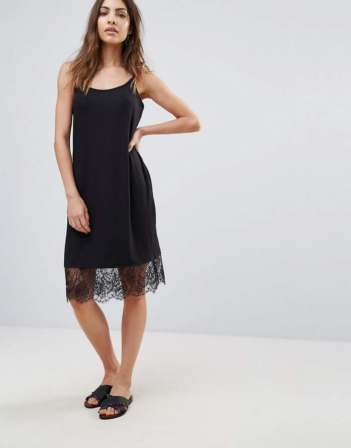 Only Elly Rib Slip Dress