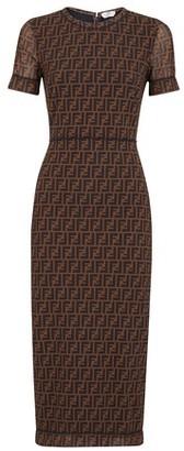 Fendi Brown micro mesh dress