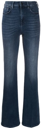 7 For All Mankind Lisha high-waisted flared jeans