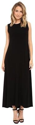 KAMALIKULTURE by Norma Kamali Sleeveless Long Swing Dress (Black) Women's Dress