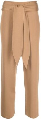 Antonella Rizza Tie-Waist Merino Wool Trousers