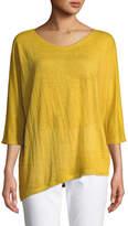 Eileen Fisher Organic Linen Jersey Top, Plus Size