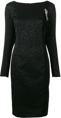 Class Roberto Cavalli Longsleeved Animal Print Dress