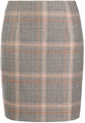 Peserico High-Waisted Houndstooth Skirt