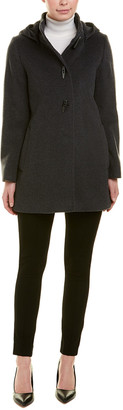 Cinzia Rocca Icons Removable Hood Wool Coat