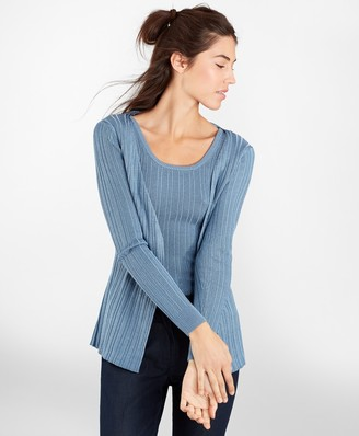 Brooks Brothers Metallic Rib-Knit Cardigan