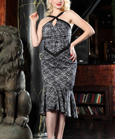Bettie Page Black & White Seven-Year Itch Dress