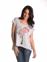 Signorelli Crochet Flower Tree Tee