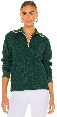 DONNI Curly Half Zip Pullover