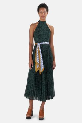Zimmermann Green Animal Sunray Picnic Dress