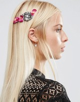 Asos Occasion Pretty Metal Flower Back Headband