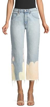 Hudson Sloane Mid-Rise Bleach Cropped Jeans