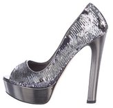 Miu Miu Sequined Platform Pumps