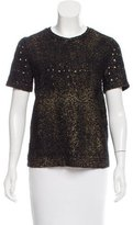 Bottega Veneta Metallic Open Knit Top