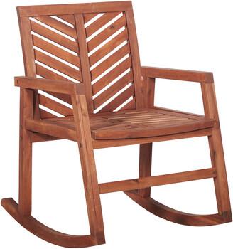 Hewson Outdoor Patio Acacia Wood Rocking Chair