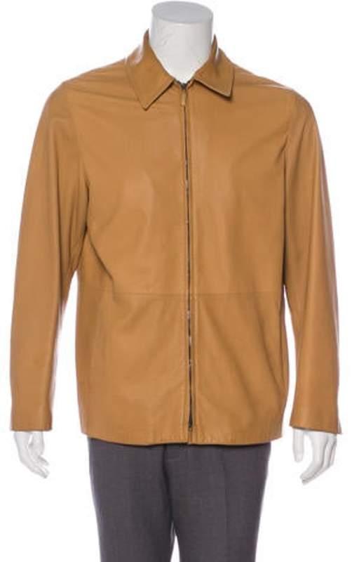 c6c72c2b9 Leather Zip-Up Jacket Purple Leather Zip-Up Jacket