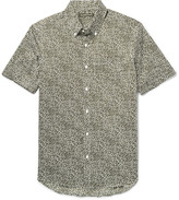 Michael Kors - Slim-fit Button-down Collar Stretch-cotton Poplin Shirt