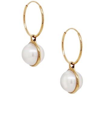Cyril Studio Siren Hoop Yellow Gold Earrings