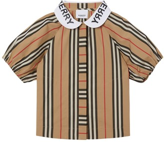 Burberry Striped Cotton Poplin Shirt