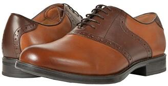 Florsheim Midtown Saddle Oxford (Cognac/Brown) Men's Lace Up Wing Tip Shoes