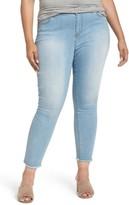 Plus Size Women's Caslon Release Hem Stretch Skinny Ankle Jeans