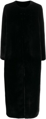 Twin-Set Fau-Fur Midi Coat