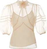 RED Valentino Organza Short Sleeve Blouse