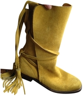 Saint Laurent Velvet boots