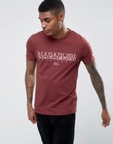 Napapijri Sapriol Logo T-shirt In Russet Brown