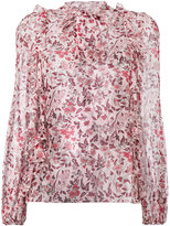 Giambattista Valli printed frill trim blouse - women - Silk - 40