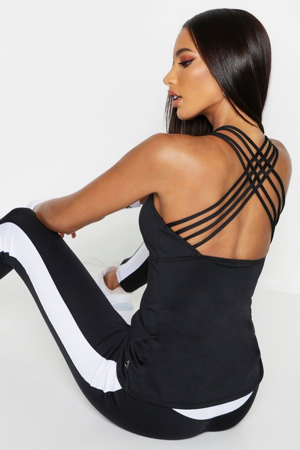 boohoo Fit Strappy Back Running Vest