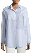 Lafayette 148 New York Alex Long-Sleeve Patchwork Blouse