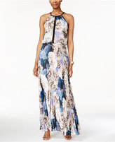 Xscape Evenings Chiffon Keyhole Halter Maxi Dress