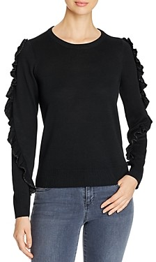 Design History Metallic Ruffled Detail Sweater