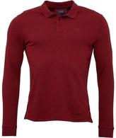 Armani Jeans Mens Long Sleeve Polo Bordeaux