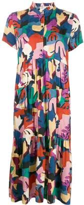 BA&SH Madeleine graphic-print midi dress