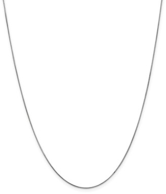 Curata 14k White Gold Solid 0.6mm Round Snake Chain Necklace