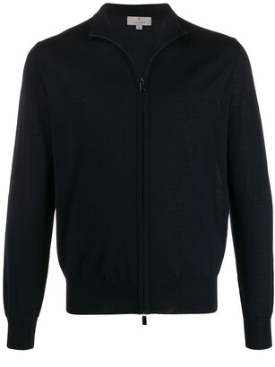Canali long-sleeve zip-front cardigan