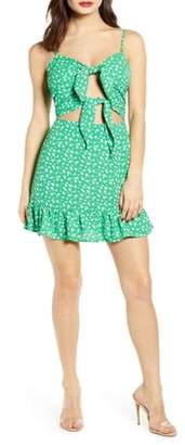 J.o.a. Double Front Tie Mini Dress