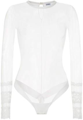 La Perla Rugiada Long-Sleeved Tulle Bodysuit