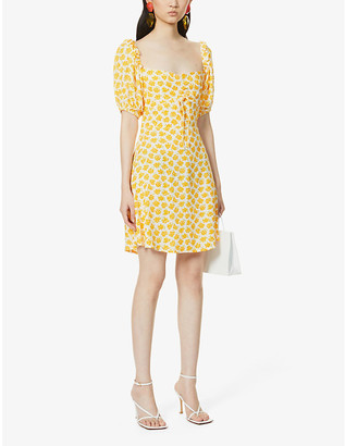 Faithfull The Brand Shimma floral-print woven mini dress