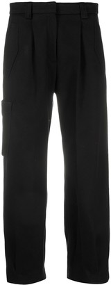 Pt01 Pleated Cotton Cargo Trousers
