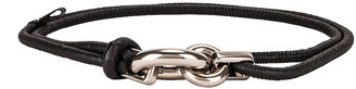 Bottega Veneta Skinny Belt in Black & Silver | FWRD