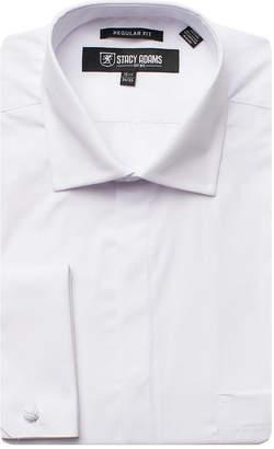 Stacy Adams Big Mens Point Collar Long Sleeve Dress Shirt