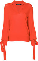 Neil Barrett v-neck sweater - women - Nylon/Viscose - S