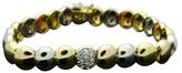 Georg Jensen 18K Tri Color Gundorph Albertus Diamond Bracelet