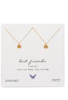 Dogeared Best Friends Little Elephant Charm Necklace Set