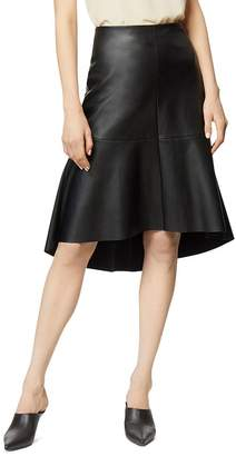 Habitual Jayda Faux-Leather Trumpet Skirt