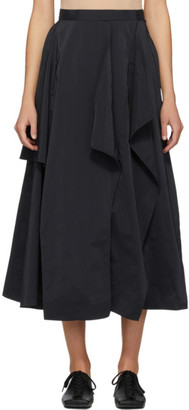 Enfold Navy Broad Random Hem Skirt