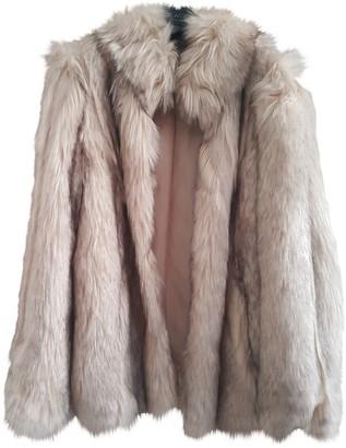 Topshop Tophop Beige Faux fur Jacket for Women